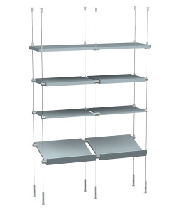 4 tier shelving display system